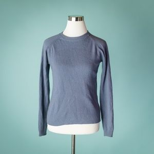 Patagonia Small Blue Cashmere Wool Blend Crew Neck
